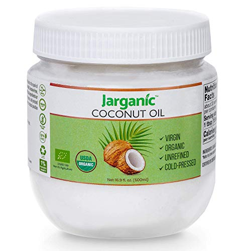 purchase coconut oils Organic Coconut Oil 17 Fl Oz for Cooking Baking Hair Skin Body Face   Extra Virgin Natural Pure Cold-Pressed Unrefined   Vegan Keto Paleo Gluten Free