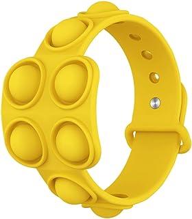 Antetek Decompression Bracelet - Mini Simple Sensory Toy, Puzzle Press Finger Bubble Toys, Finger Bubble Music Bracelet St...