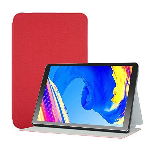 YGoal Funda para Vankyo MatrixPad S20 -  Multiángulo PU Cuero Folio Carcasa para Vankyo S20 10 Pulgada y YUNTAB 10.1 Pulgada D107,  Rojo