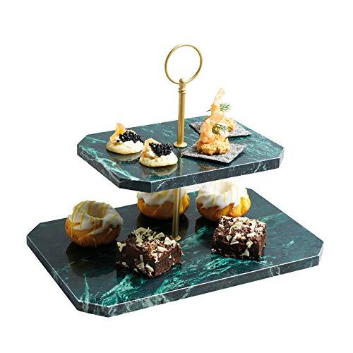 Kitchen Craft MasterClass Artesa rechteckig Marmor Buffet Serviertablett mit Griffen, 50x 15cm (49,5x 15,2cm)–Grün