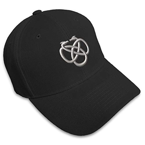 Speedy Pros Baseball Cap Celtic Knot Embroidery Typography & Symbols Acrylic Hats for Men Women Strap Closure Black Design Only