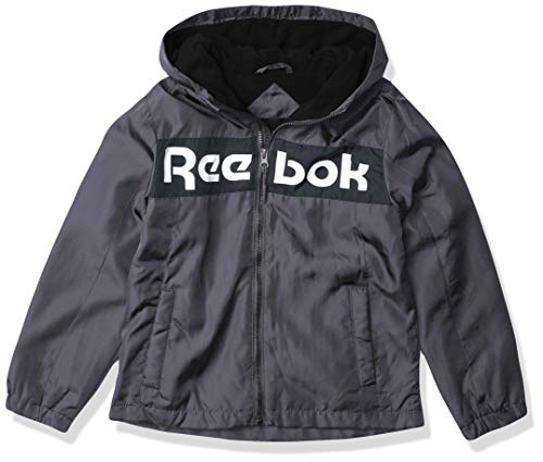 Reebok BOY Med Weight Jacket, 18A CHARCOAL/BLACK, 7