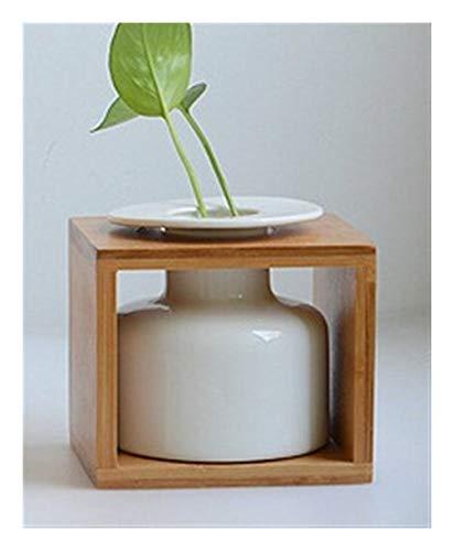 Bloem van het glas Vazen 1Pc Classic White Ceramic Vaas Ambachten Decor voor Verjaardag Wedding (Color : Small)