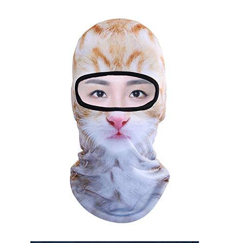QKURT Pasamontañas 3D con diseño de Animales, Divertido para el Cuello, Calentador a Prueba de Viento