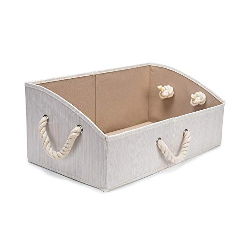 Beige Slub Doek katoenen touw Oblique Ladder Storage Box Shaped Storage Box Toy Bureau Storage afwerking box lili