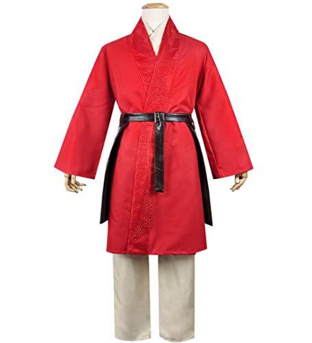 Disfraz Mulan Disfraz Mulan para Mujer Traje Cuatro Piezas Disfraz De Mulan para Nias Disfraces De Carnaval De Halloween,XS