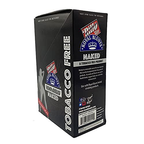 Hemparillo Grape 15 Pack of 4 (Full Box) (Tobacco Free Hemp Wraps) (Naked)