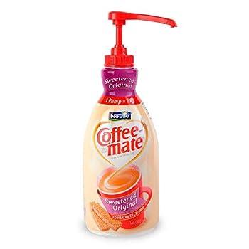 Coffee-mate 13799 Liquid Coffee Creamer Sweetened Original 1500mL Pump Dispenser