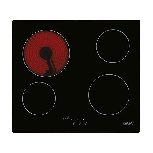 Cata T 604 | Placa vitrocerámica con 4 zonas de cocción, 1800 W de potencia y control táctil.