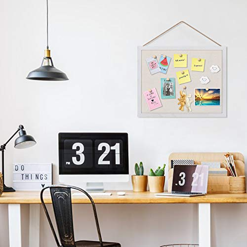 Emfogo Cork Board with 19x15 inch Combination White Board & Bulletin Cork Board 1-Pack Bulletin Board for Wall Home Office Decor,Home School Office Message Board or Vision Board Photo #4