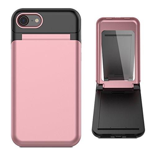 WE LOVE CASE iPhone 7 ケース カード収納 iPhone 8 ケース アイフォン 7 ケース カバー カードスロット 鏡...