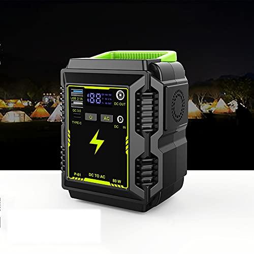 QCLU Centrale elettrica Portatile 296Wh / 80000Mah Generatore, Batteria al Litio di Backup con DC/AC/USB Porti/Tipo. -C/LED. Leggero PORTATO Display per all'aperto Picnic Pesca Drone Drone Via