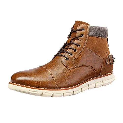 Bruno Marc Men's Brown Cap Toe Combat Dress Casual Chukka Boots Size 11 M US Motion-1