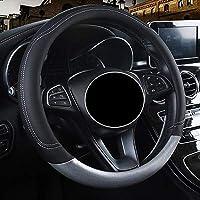 LKYJP P-E-U-G-E-O-Tのすべてのモデルの車Steetingホイールカバー4008 RCZ 308 508 301 301 307 207 2008 3008 206 408 5008 607 (Color : Black ash, Size : フリー)