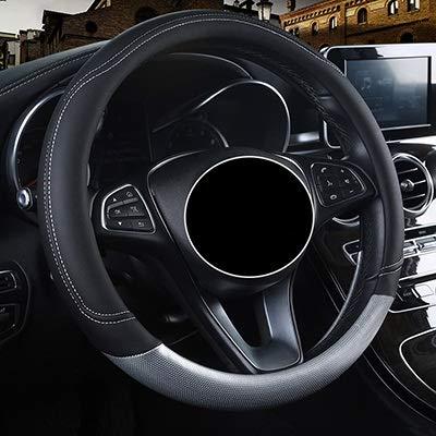 Auto-accessoires Auto Steeting wieldoppen for P-e-u-g-e-o-t Alle Model 4008 RCZ 308 508 301 301 307 207 2008 3008 206 408 5008 607 ZHQHYQHHX (Color : Black ash, Size : Free)