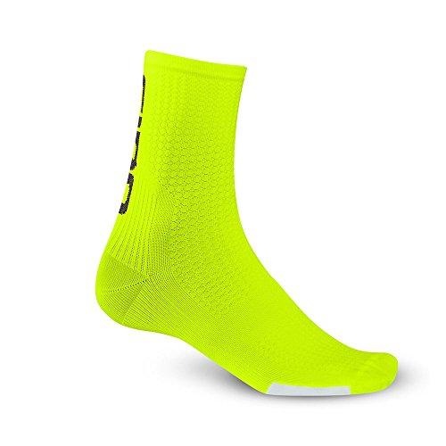 Giro Función Calcetines HRC Team, Todo el año, Unisex, Color Amarillo - Amarillo, tamaño Medium