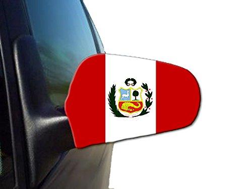 Sonia Originelli 2er Set Außenspiegel Flagge WM Fußball Fan Auto Fahne Farbe Peru