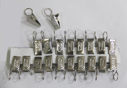 Pack of 20 Stainless Steel Small Curtain Hanging Bulldog Clips Clamps Pegs
