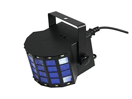 EUROLITE LED Mini D-6 Hybrid Strahleneffekt   Handlicher Effekt mit Derby und Strobe in einem Gerät   Auto-Modus, Musiksteuerung, interne Programme, Strobe-Effekt