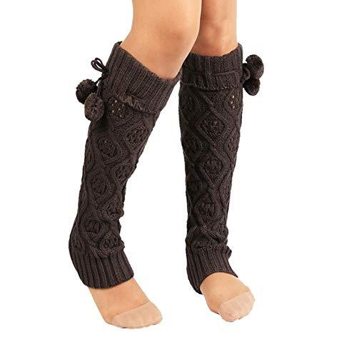 GAOYUE Design Frauen Winter Warme Gestrickte Lange Beinlinge Boot Manschette Häkeln Socken 160912 Drop Shipping feb30, Dark Grey, United States