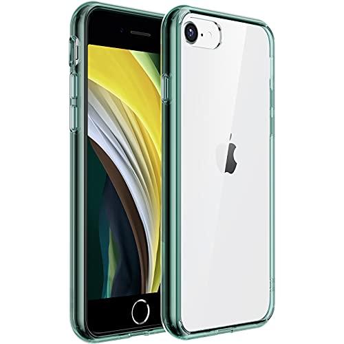 UNBREAKcable Kompatibel mit iPhone 8 Hülle, iPhone 7 Hülle, iPhone SE 2020 Hülle [Anti-Gelb und Kratzfest] - Hartplastik Rückseite und Weich Silikon Bumper Durchsichtig Schutzhülle, Hülle - Grün