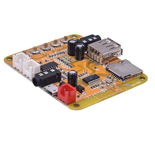 WNJ-TOOL, 1pc Mini Bluetooth 4.1 MP3 Audio Decoder Board 5W * 2 Amplifier Bluetooth Audio Receiver Module WAV APE FLAC DC5V Unterstützt (Größe : Other)