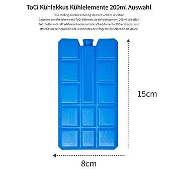ToCi Lot de blocs réfrigérants pour sac isotherme ou glacière, de 200ml chacun, ., 2
