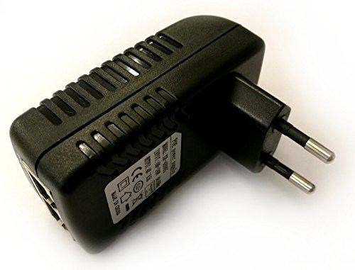 Netzteil Steckernetzteil Adapter PoE 48V 0,5A / 500mA 802.3af 24Watt RJ45 Eingang/Ausgang
