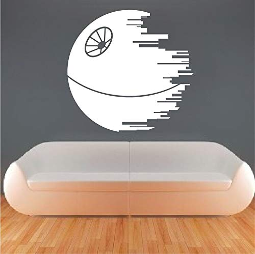 hetingyue Death Star muurstickers sofa tv achtergrond decoratie abstracte sticker decoratie woonkamer slaapkamer wandsticker kunst kaart