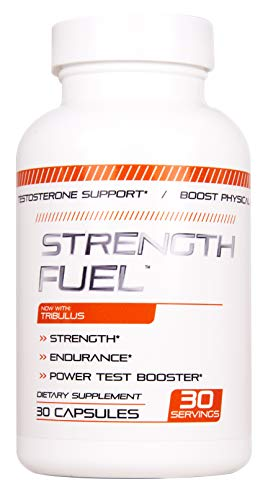Strength Fuel Male Enhancing Pills - Enlargement Booster for Men - Increase Size, Strength, Stamina - Energy, Mood, Endurance Boost - All Natural Performance Supplement - 90 Caps Manufactured USA