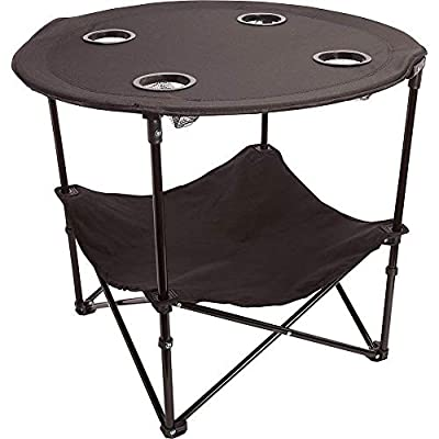 Camping Table Portable Camping Side Table for Outdoor Picnic, Beach, Games, Camp, Patio Tables Folding with Carry Case for Travel & Storage, Black, One Size (ts cam)