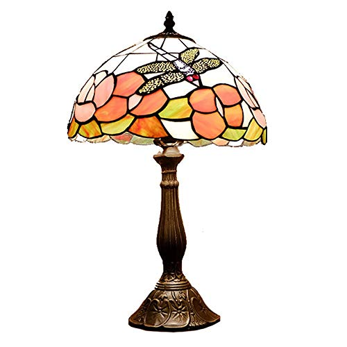 SDHouse Smart lamp Lamp Creative Retro Tiffany Style Table Lamp Bedroom Stained Glass Lamp Bar Country Table Light 30 * 50cm