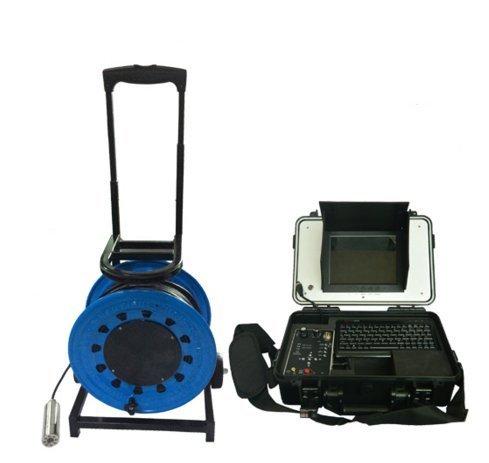 MABELSTAR Cámara bajo el agua con 200 metros cable cámara de inspección de tubo de video con cabeza de 55 mm