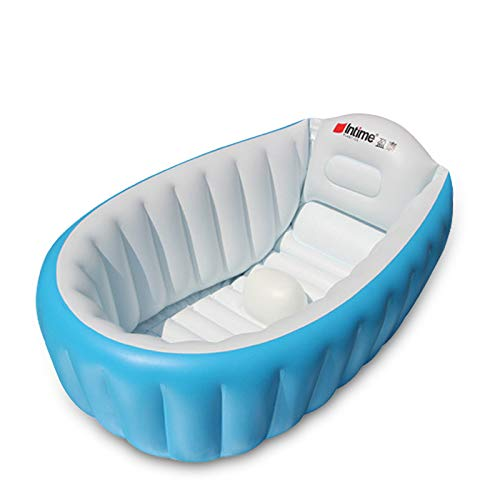 Piscina hinchable para niños, pequeña y infantil, con animales, ideal para jardín, balcón, exterior, juegos de agua (azul)