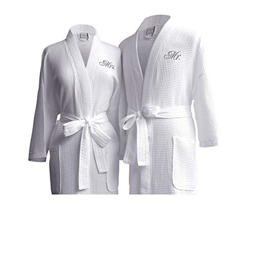 Luxor Linens Waffle Weave Spa Bathrobe - Ciragan Collection - Luxurious, Super Soft, Plush &...