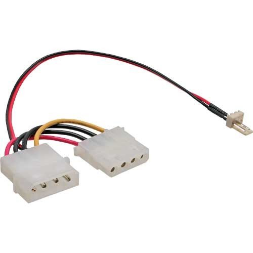 InLine 0,15 m 3-pins fan tot 4-pins power supply fan adapter kabel