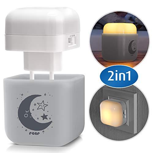 reer SleepLight 2in1 Nachtlicht für die Steckdose und mit Akkubetrieb, cool grey - 2