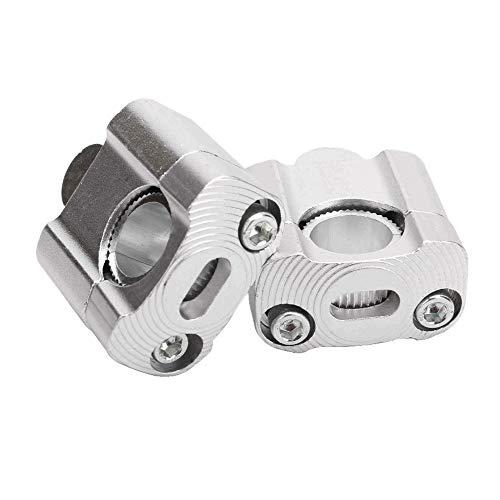 Kuinayouyi 1 par Cnc 22mm 28mm Off Road motocicleta Bar abrazaderas manillar elevadores para 7/8 '1-1/8 Pit Dirt moto para plata