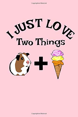 I Just Love Two Things: Ice Cream And My Guinea Pig Funny Notebook 6x9 110 pages