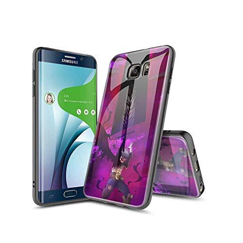 SviXXaYN Samsung Galaxy S6 Edge Funda, Parte Trasera de Cristal Templado + Funda Protectora de TPU de Silicona Suave, Compatible con Samsung Galaxy S6 Edge #006(B)