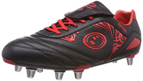Optimum Razor, Zapatillas de Rugby Hombre, Rojo (Red), 44 EU