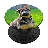 GSD Puppy Portrait Pop German Shepherd Dogs Lover Mom Dad PopSockets PopGrip: Swappable Grip for Phones & Tablets