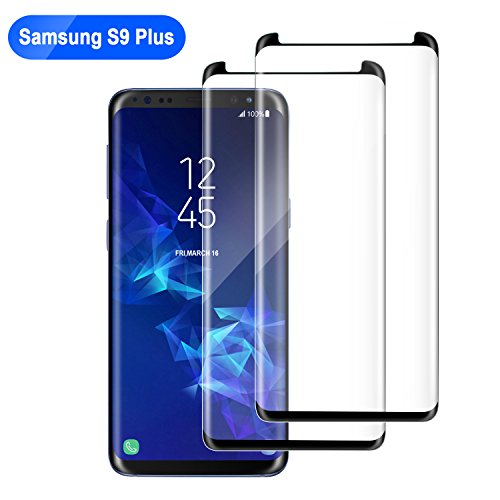 2 Pack Galaxy S9 Plus Screen Protector Glass of Bestfy, 3D Curved, Case Friendly, Scratch-Resistant Samsung Galaxy S9 Plus Tempered Glass Screen Protector (6.2') 2018 Released (NOT S9)