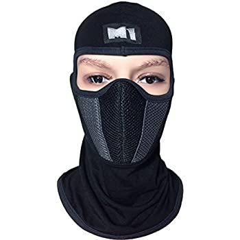 BALA-FILT-RUBB-BLCK M1 Full Face Cover Balaclava Protection Filter Rubber Mask