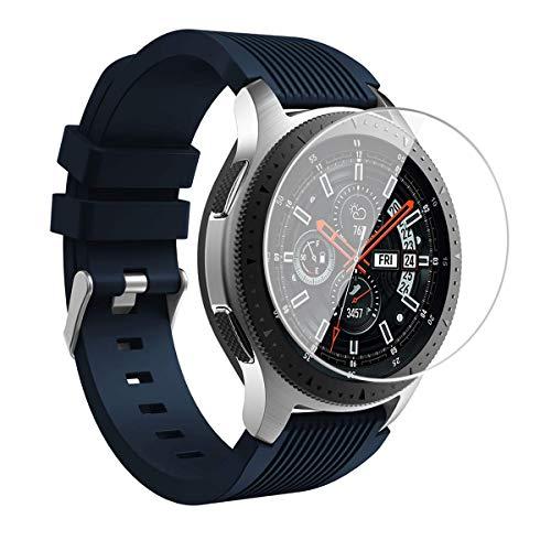 [3 Stück] FUMUM Premium Schutzfolie Kompatibel mit Samsung Gear S3 Frontier/Gear S3 Classic/Samsung Galaxy Watch 46mm Smartwatch Folie,9H Glasfolie,Anti Fingerabdruck,Anti-Kratzen,HD Kristalles Glas