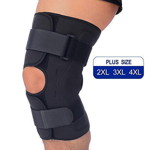 ad7428bfc8 T TIMTAKBO Hinged Knee Brace Support,Metal Side Stabilizer,Open Patella,Wrap  for Athletic Compression,Arthritis,Sports Trauma,Sprains,Pain Release and  ...