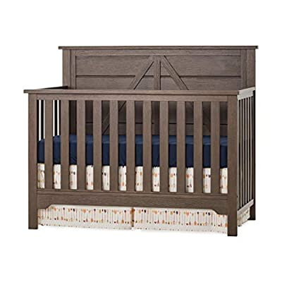 Forever Eclectic Woodland 4-in-1 Convertible Baby Crib, Brushed Truffle from Child Craft