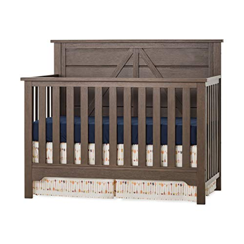 Great Price! Forever Eclectic Woodland 4-in-1 Convertible Baby Crib, Brushed Truffle
