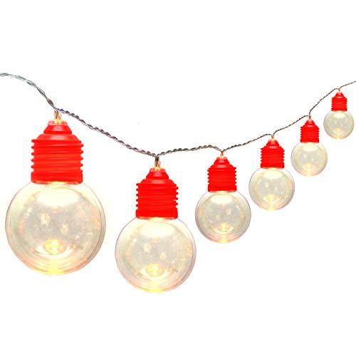 yyylight LED Globe String Lights, G50 Globe Light,16FT 24 LED Clear Bulbs ,Soft White Indoor/Outdoor Patio Light (Not Battery)