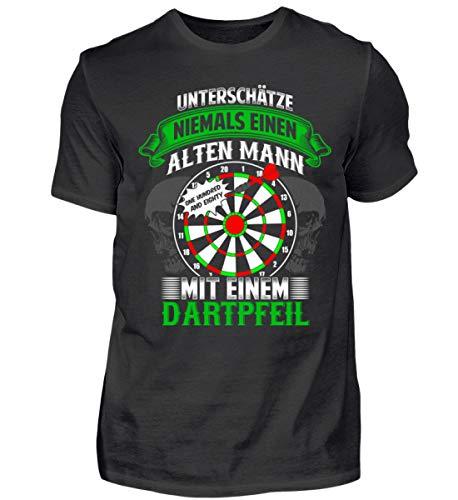 Unterschätze Niemals einen Alten Mann mit einem Dartpfeil Dart/Dartspieler/Dartclub Geschenk - Herren Shirt